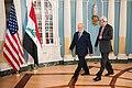 Secretary Kerry and Iraqi Foreign Minister al-Jaafari Walk to Address Reporters in Washington (27838716503).jpg