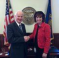 Secretary Richardson and Sarah Roth (33737637564).jpg