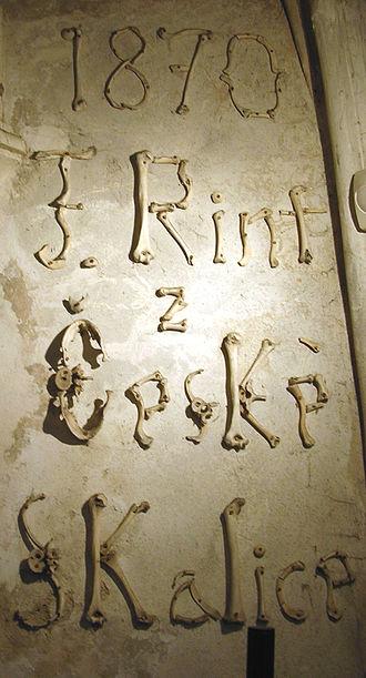 Sedlec Ossuary - Image: Sedlec Initials
