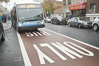 Bus route in Brooklyn, New York