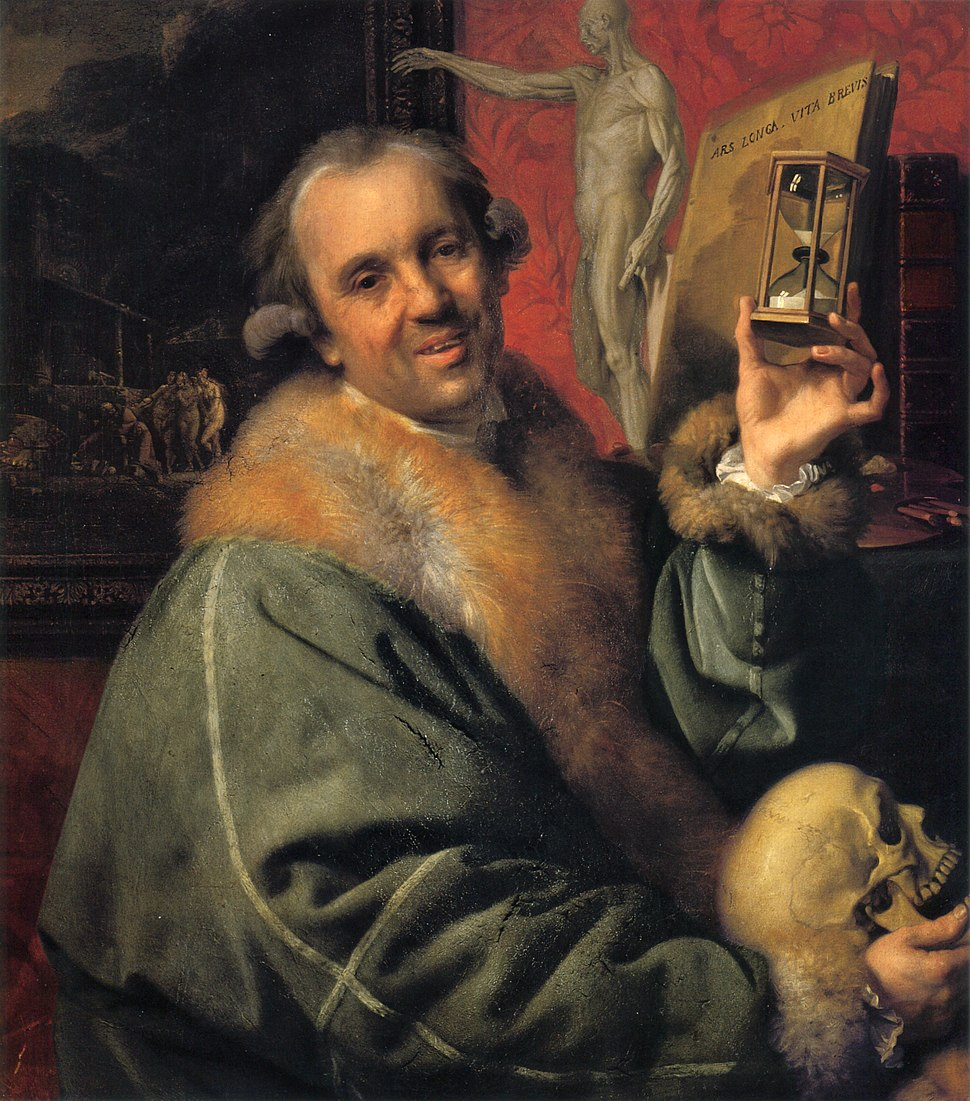 Self-portrait (with Hourglass and Skull) by Johann Zoffany