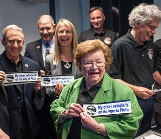 Barbara Mikulski - Sen. Mikulski at New Horizons Pluto Flyby, 2015