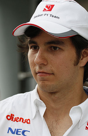 2014 United States Grand Prix - Sergio Pérez (pictured in 2011) ended his race early after contact with Kimi Räikkönen and Adrian Sutil.