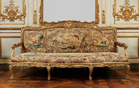 Louis Xv Armchair With Beauvais Tapestry Canapé By Jean Baptiste Oudry 1754 56 Metropolitan Museum