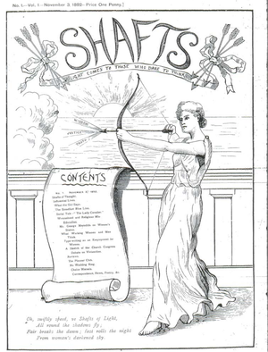 Shafts - Cover of Shafts issue 1 (November 1892)