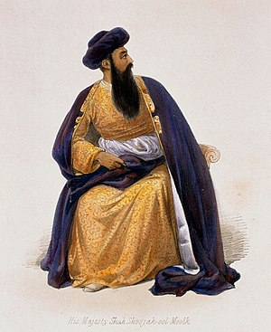 European influence in Afghanistan - Shah Shujah became the last Durrani ruler, who first reigned between 1803 and 1809, and again from 1839 to 1842.