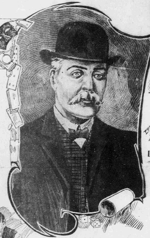 Thomas Draper (criminal) - Etching from 1907