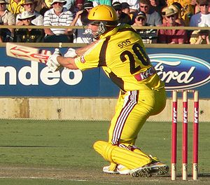 Shaun Marsh - Marsh batting for WA in the 2007-08 KFC Twenty20 Big Bash final.