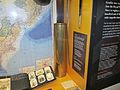 Shell case from final bombardment of Japan at the Torpedo Bay Naval Museum.JPG