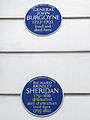 Sheridan and Burgoyne blue plaques.JPG