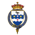 Shield of arms of Robert Jenkinson, 2nd Earl of Liverpool, KG, PC, FRS.png