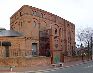 Pumping station in Birkenhead, England which contains the pumps for removing water from the railway tunnel under the River Mersey