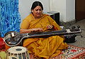 Shubha Mudgal in playing the Tanpura (2527339532).jpg