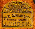Siebe, Gorman & Co ltd, Submarine engineers, London, logo, Geniemuseum Vught.JPG