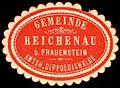 Siegelmarke Gemeinde Reichenau bei Frauenstein - Amtshauptmannschaft Dippoldiswalde W0252445.jpg