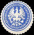 Siegelmarke Königliche und Universitäts Bibliothek zu Königsberg W0226191.jpg
