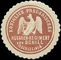 Siegelmarke K.Pr. Husaren-Regiment von Schill (1. Schlesisches) Nr. 4 W0329077.jpg