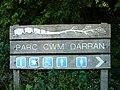 Sign at Parc Cwm Darran - geograph.org.uk - 653531.jpg