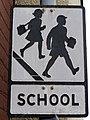 Sign near St Benedict's CE junior school, Glastonbury - geograph.org.uk - 217569.jpg