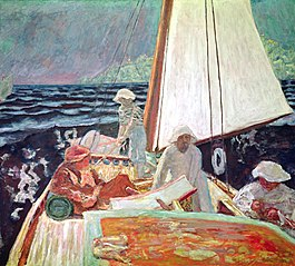 Signac and his friends in boat