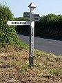 Signpost, Beenleigh Turn - geograph.org.uk - 1376323.jpg