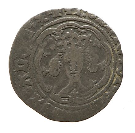 Silver half groat of Henry IV, York Museums Trust Silver half groat of Henry IV (YORYM 1994 151 102) obverse.jpg