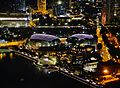Singapore Esplanade - Theatres by the bay viewed from Marina Bay Sands bei Nacht 1.jpg
