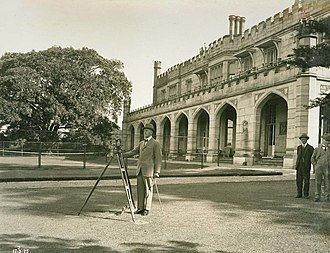 Government House, Sydney - Governor Sir Dudley de Chair (1924–1930) outside Government House, 17 March 1925.