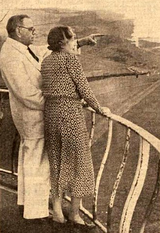 Belle Tout lighthouse - Sir James and Lady Purves-Stewart at Belle Tout in 1938.