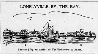 Lonelyville, New York - Sketch of early Lonelyville, NY, circa 1908