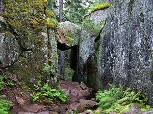 """Skuleskogen National Park - Trollporten (""""Trolls' Door""""), in the park"""