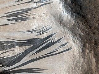 Dark slope streak