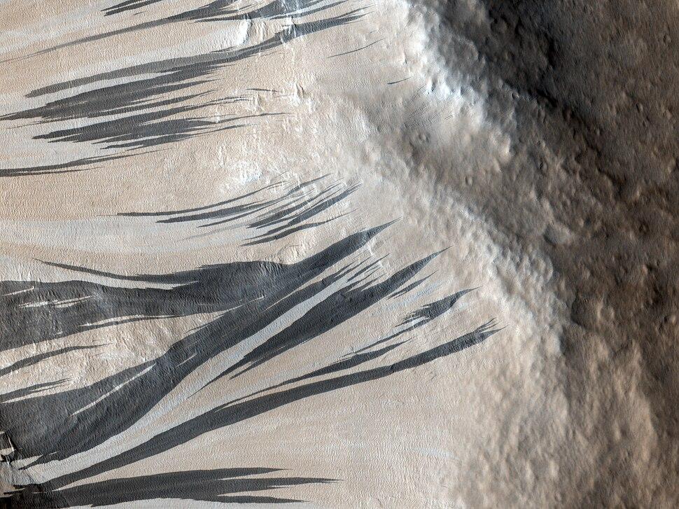 Slope Streaks in Acheron Fossae on Mars