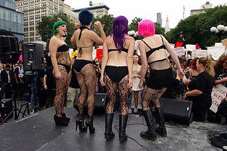 SlutWalk - New York City SlutWalkers. Union Square, October 2011