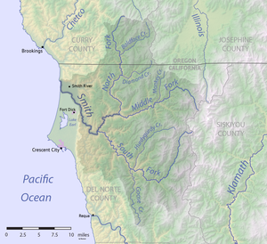 Smith River (California) - Image: Smith River map