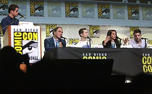 Snowden (film) - The cast and director of Snowden at the 2016 San Diego Comic-Con to promote the film.