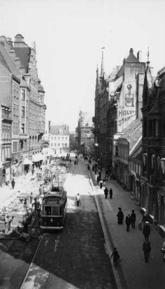 Malmö - Södergatan in 1913