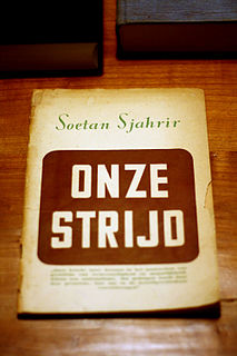 <i>Our Struggle</i> book by Soetan Sjahrir