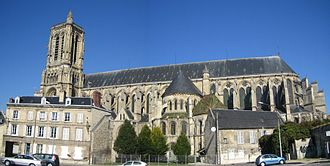 Soissons - Panoramic view of the Cathedral