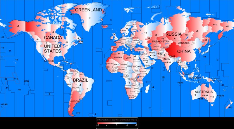 Time zone wikipedia political map showing how a great part of the world has a gap between the official time and the solar gumiabroncs