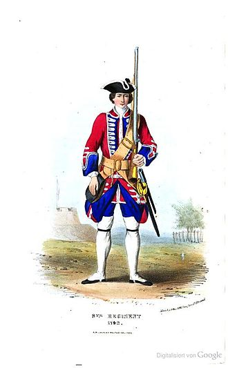 8th (The King's) Regiment of Foot - Soldier of 8th Regiment, 1742