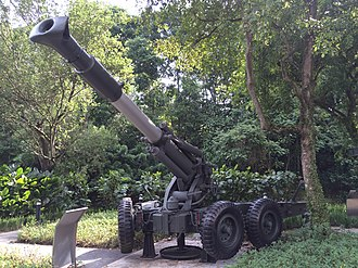 Soltam M-68 - Retired M-68 howitzer of the Singapore Army