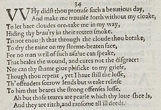 Sonnet 34 poem by William Shakespeare