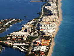 Aerial View of South Palm Beach Proper