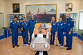 Soyuz TMA-09M prime and backup crews in the Korolev Museum.jpg