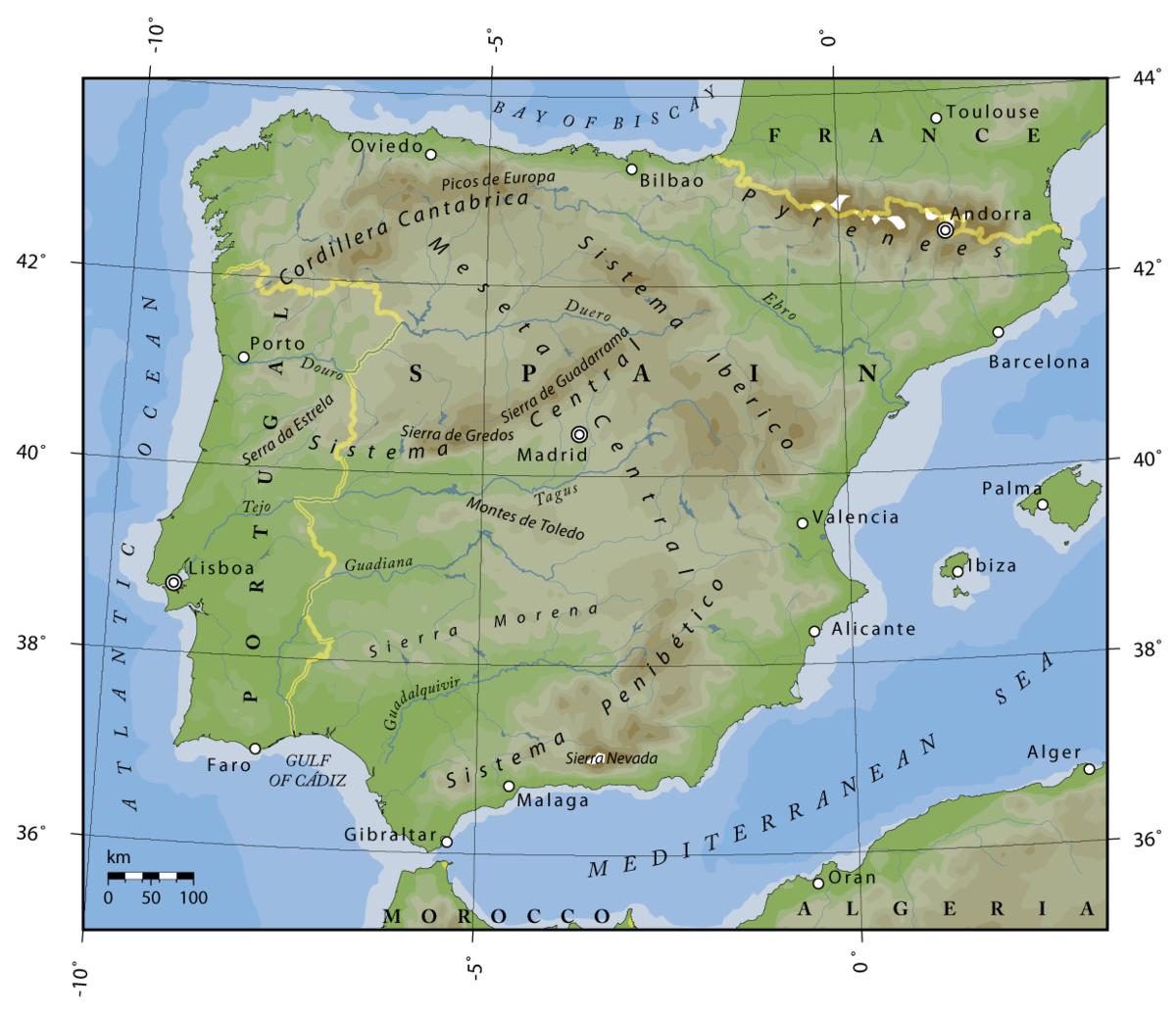 Cartina Spagna Antica.Confine Tra Il Portogallo E La Spagna Wikipedia