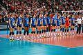 Spain volleyball women national team 03 - FIVB World Championship European Qualification Women Łódź January 2014.jpg