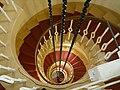 Spiral staircase, inside Kinnaird Lighthouse - geograph.org.uk - 965674.jpg