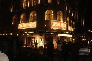 Novello Theatre - Spring Awakening at the Novello, March 2009.