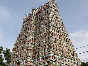Tiruchirappalli district - Srirangam Temple Gopuram